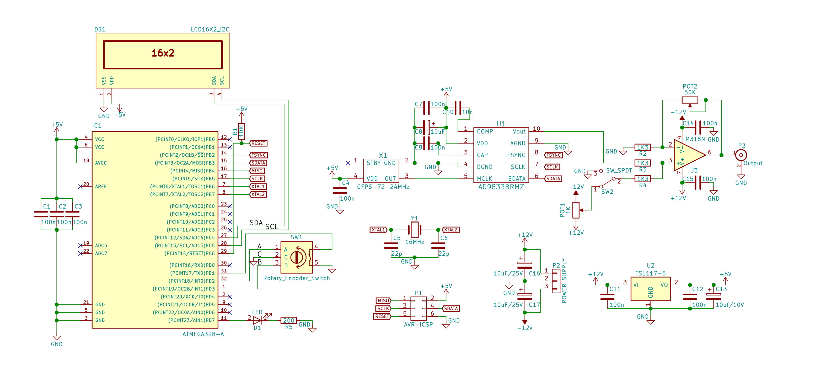 Signal Generator Schematic Wiring Library Tv Remote Control Tester Circuit Diagram Tradeoficcom On The Left Side Of You Will Find An Atmega328p Au Microcontroller