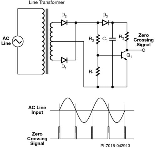 Simple 50/60 Hz zero-crossing detector