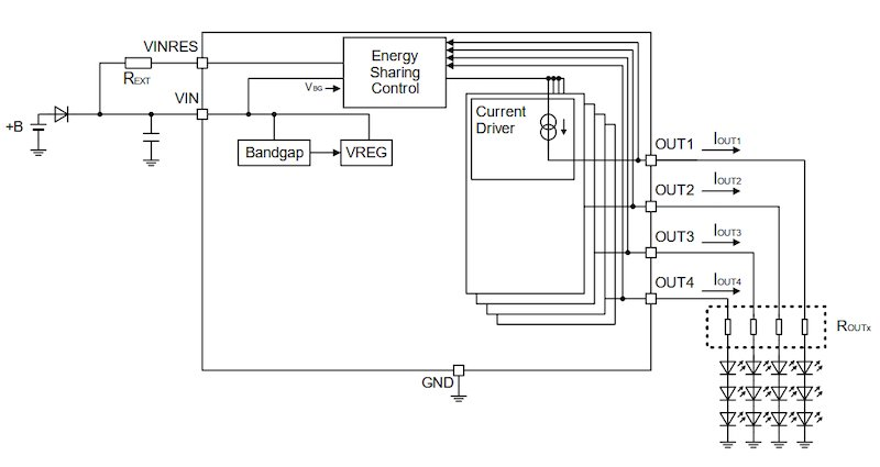 Output current settings of the BD18337EFV-M