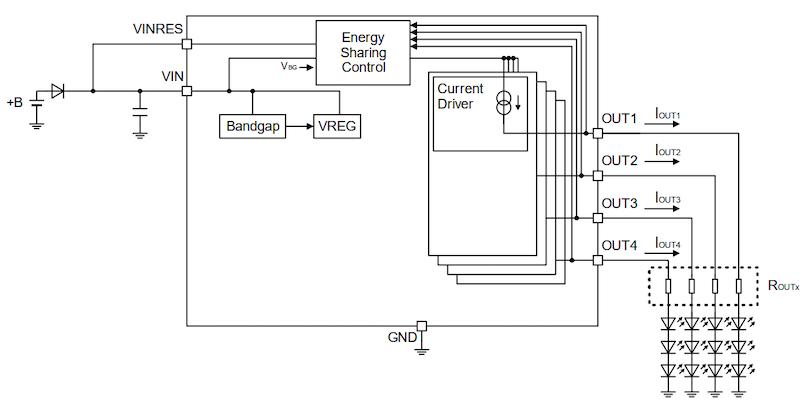 Simplified schematic of BD18337EFV-M