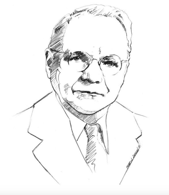 Sketch of Harry Nyquist.