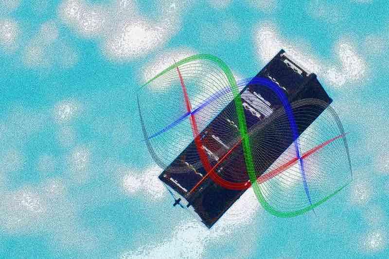 The SpooQy-1 nanosatellite.