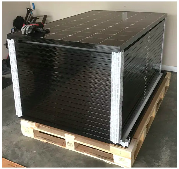 Stacked crystalline silicon solar modules