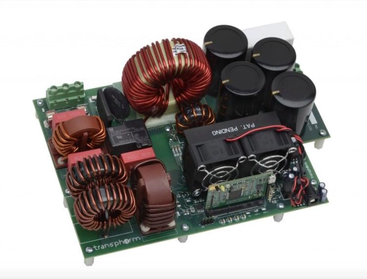 TheTransphorm bridgeless totem-pole PFCevaluation board and Microchip digital signal controller board