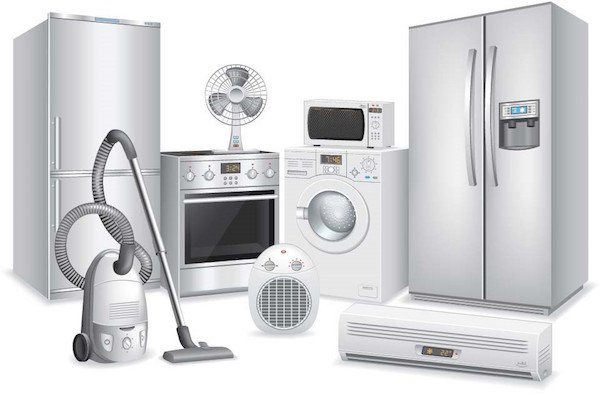 Typical home appliances