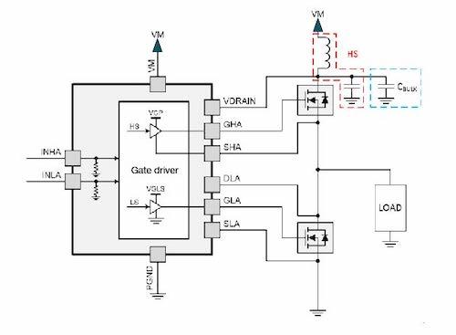 Adding a bulk capacitor on VDRAIN