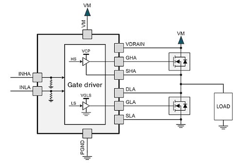 Simplified driver circuit (without parasitic elements)