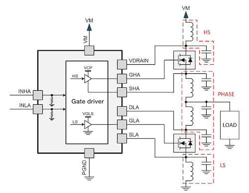 Driver circuit with parasitic elements