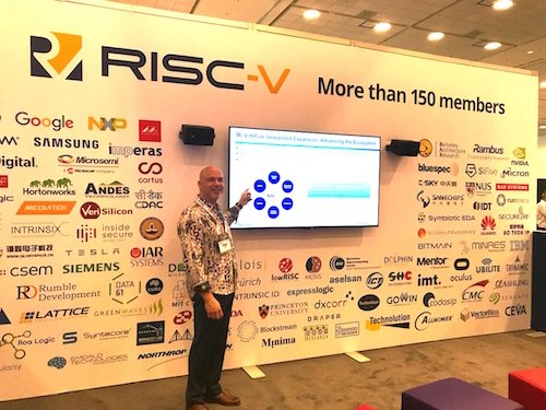 Ted Marena presenting for the RISC-V foundation