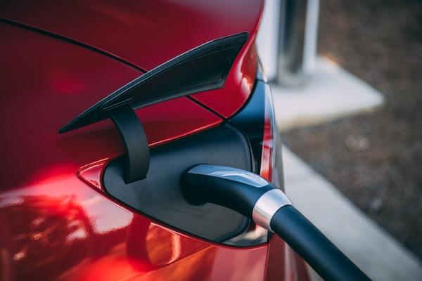 Tesla model 3 charging.