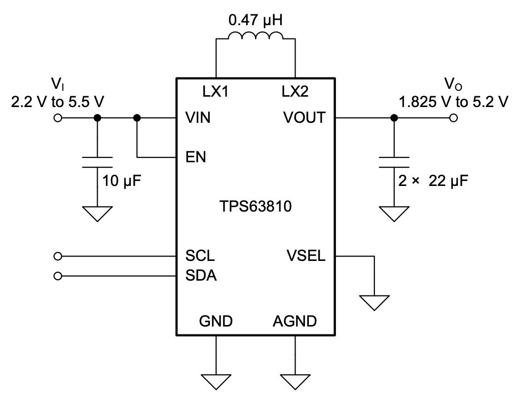 Texas Instruments_simplified schematic for the TPS63810