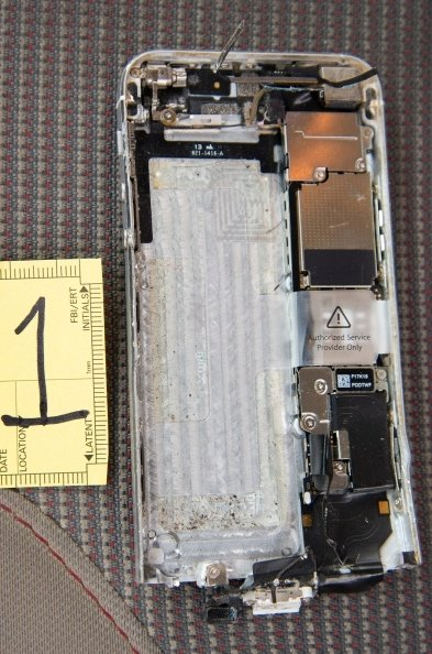 The shooter's iPhone recovered by the FBI