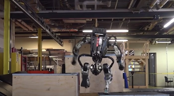 The team at Boston Dynamics programmed Atlas to do parkour in 2018