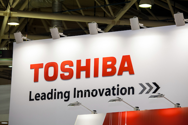 A Toshiba billboard.