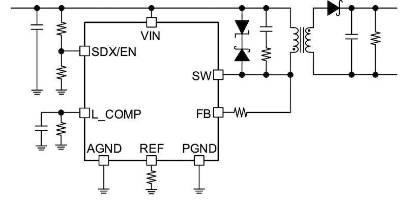 Typical application circuit of BD7J200