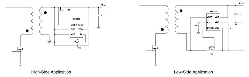 Typical applications circuit for APR348