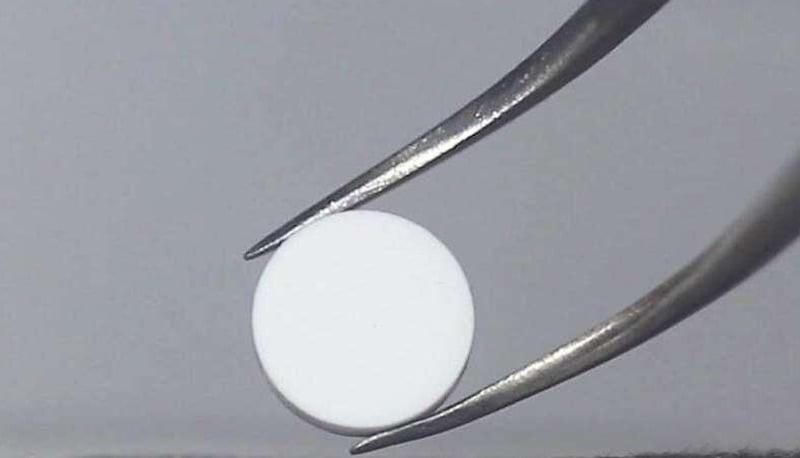 UHS-sintered ceramic pellet.