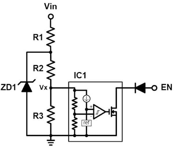 A UVLO circuit.