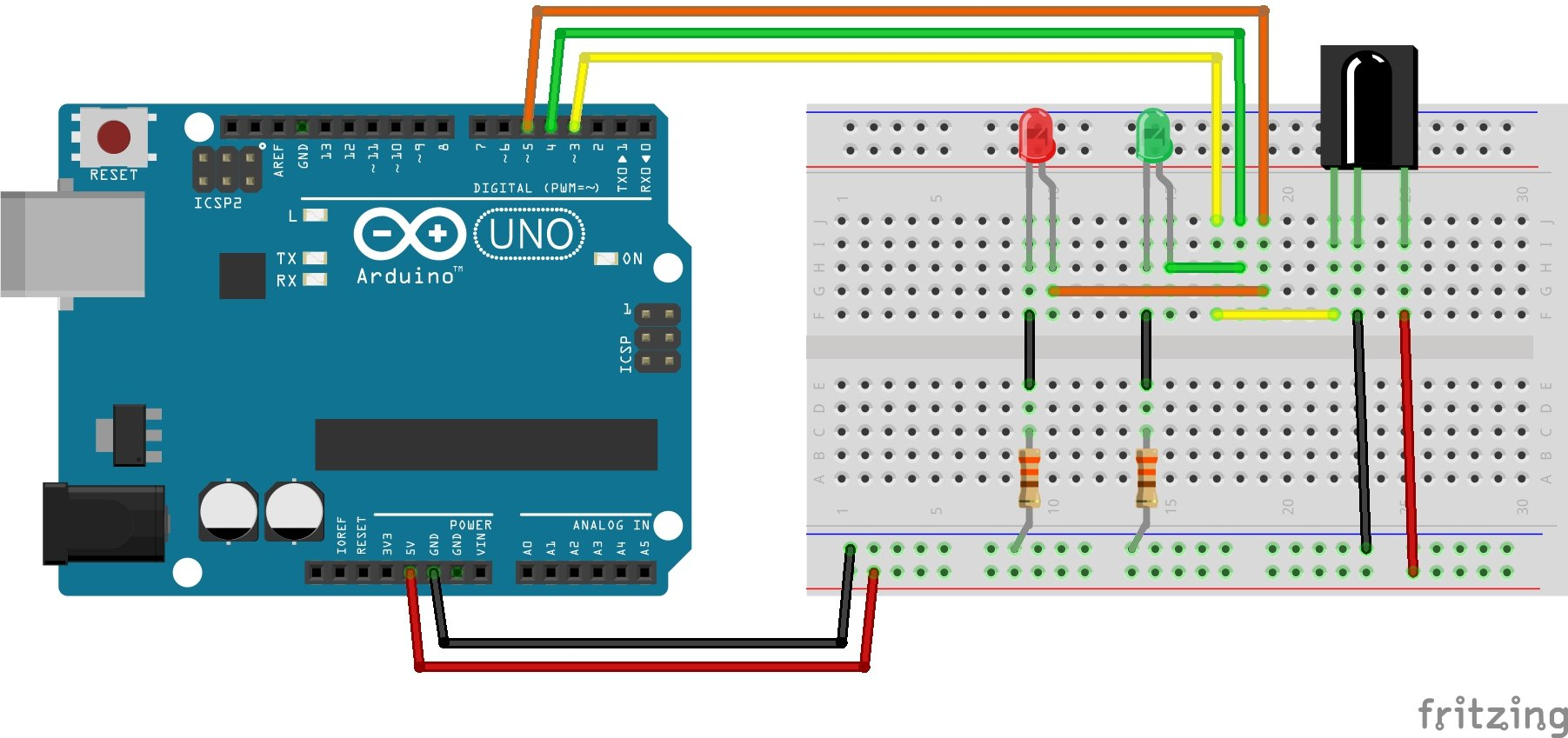 Arduino Infrared Ir Control The Universal Remote Build Your Own Security Systems Receiver Circuit Diagram Created With Fritzing