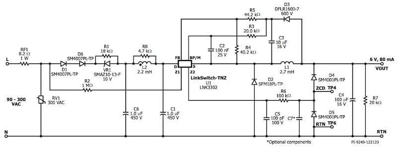 Universal constant voltage power supply zero-crossing detection