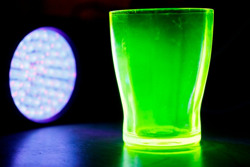 Uranium infused glass (Vaseline Glass)