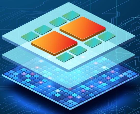Utilizing chiplet modularity in 3D design