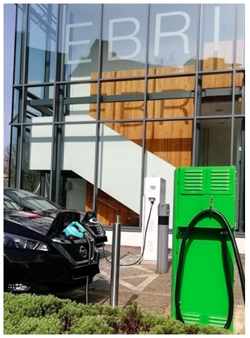 V2G charging site 1at Ashton University