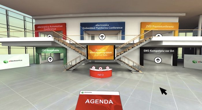 Virtual show floor of electronica 2020
