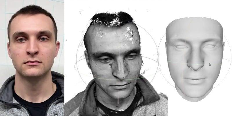 3D facial imaging with visual SLAM