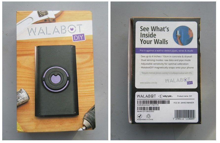 The packaging material in which the Walabot DIY In-Wall Imager arrived in