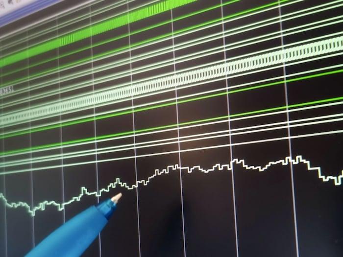 Waveform captured from IMERAI sensor