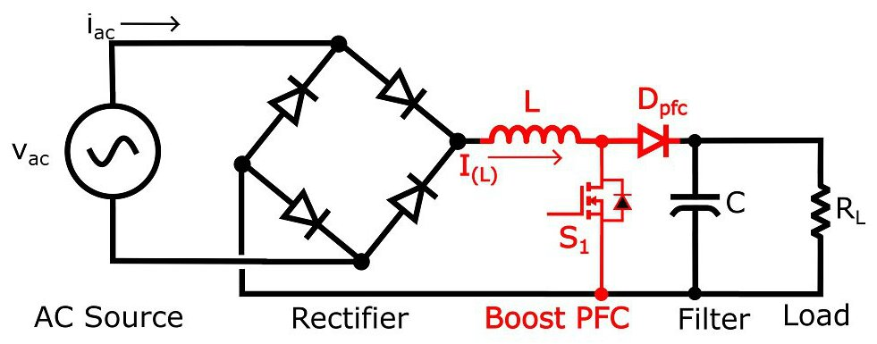how the boost pfc converter circuit improves power quality