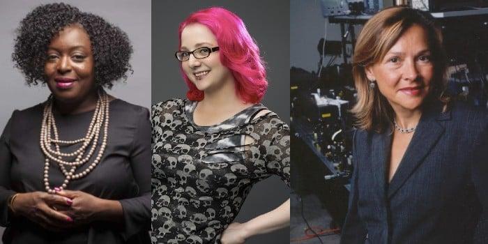 Kimberly Bryant, Limor Fried, and Naomi Halas