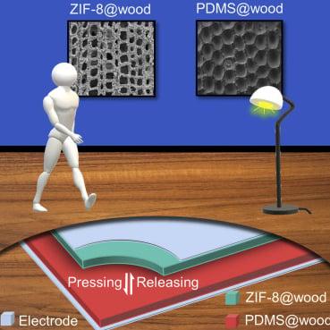 Wood-based triboelectric nanogenerator