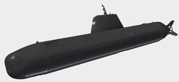 XLUUV Manta S201 submarine.