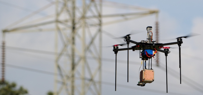 Manifold Robotics' powerline-safe drone platform based on technology licensed from the Army Research Laboratory