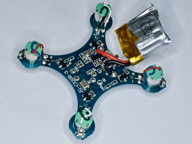 The Bottom of the drone PCB