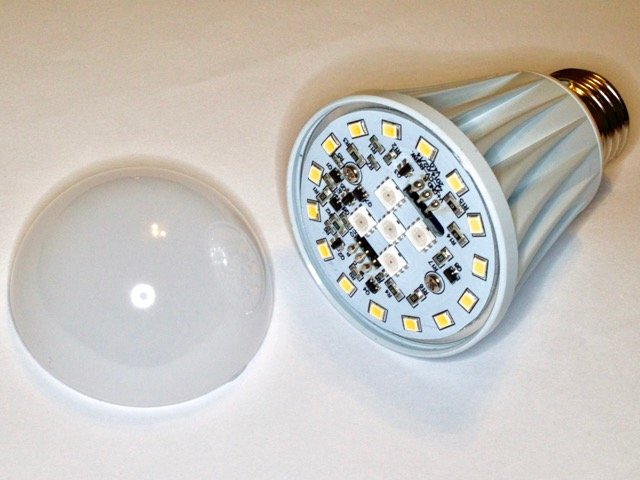The Opened Up LED Bulb