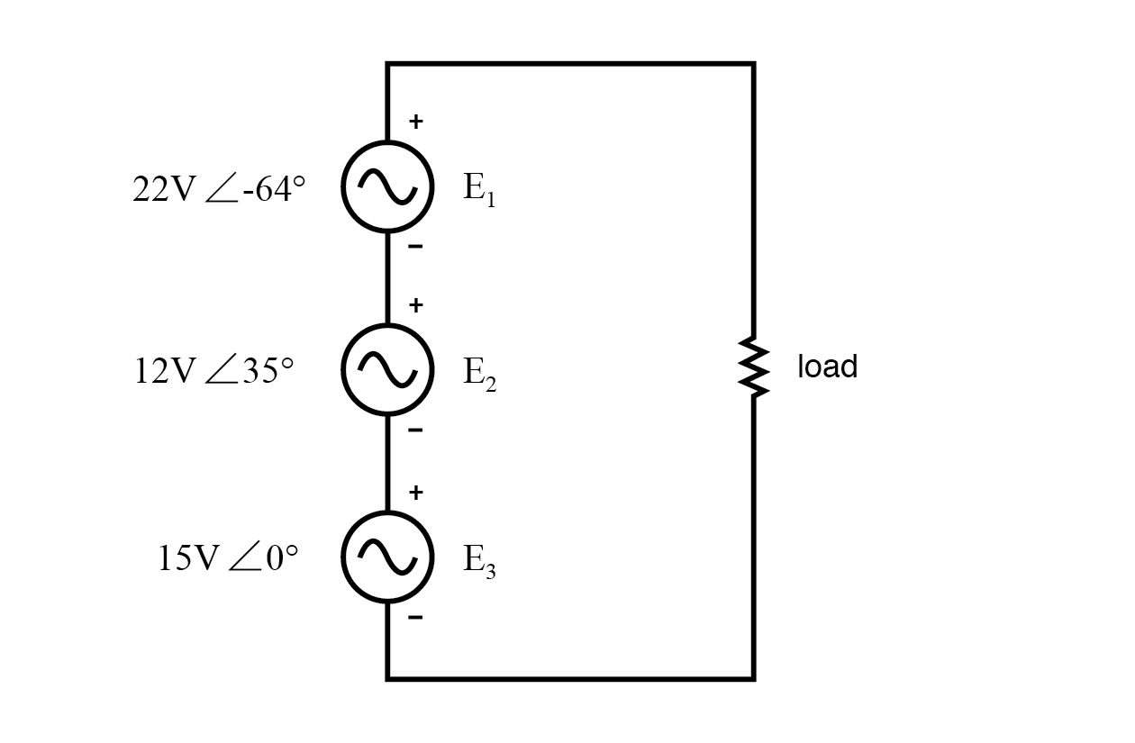 KVL allows addition of complex voltages.