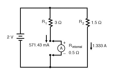 Ammeter Impact on Measured Circuit | DC Metering Circuits ... on