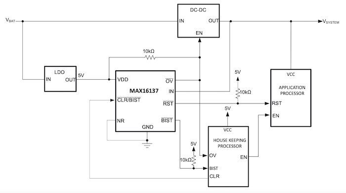 An application circuit for the MAX16137.