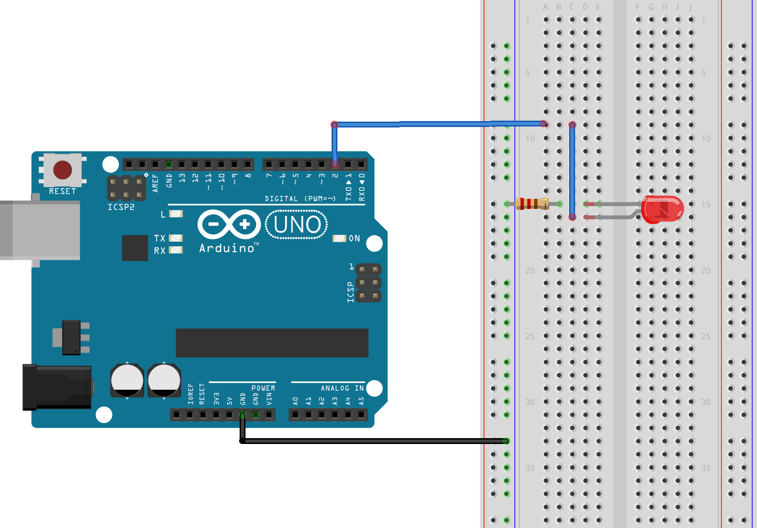 In this simple circuit an LED is connected to pin 2 of the Arduino. To change the brightness of the LED we change the duty cycle of the pulse width ...  sc 1 st  All About Circuits : arduino wiring language - yogabreezes.com