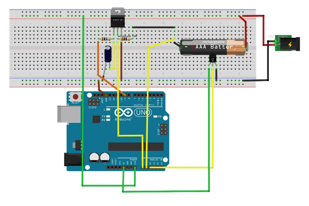 Battery Desulphation Progress Monitor Circuit Diagram - Wiring