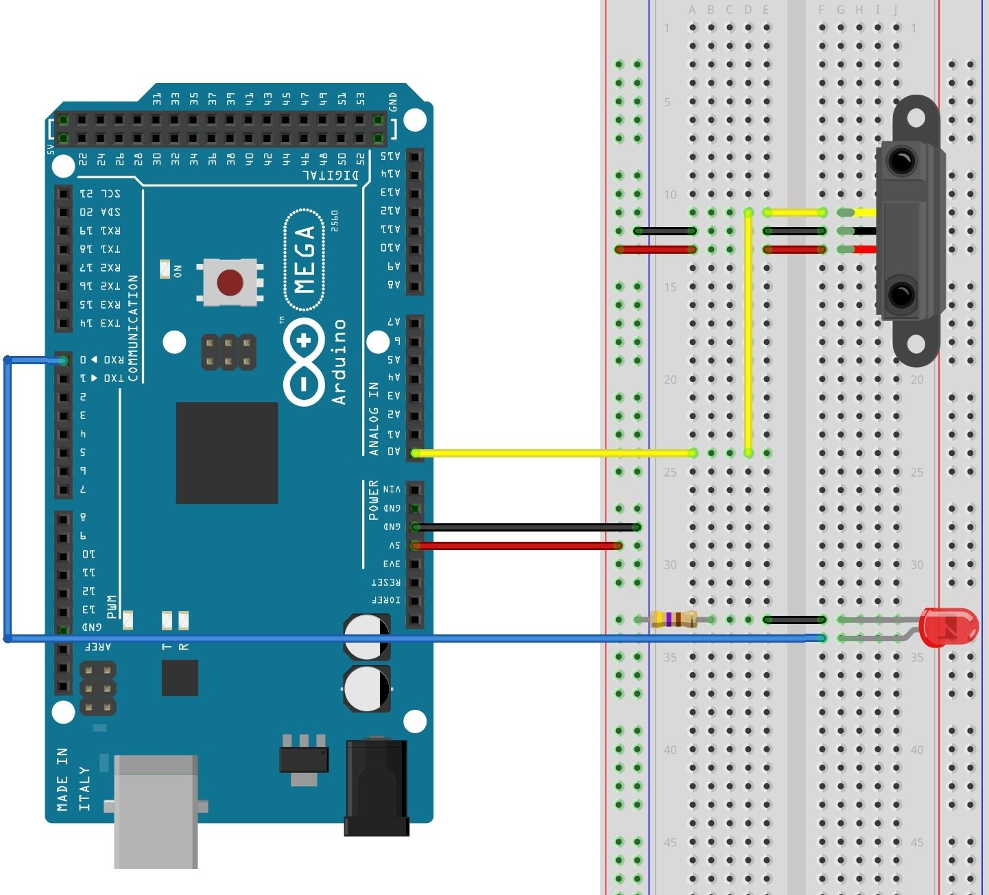 Reading Sensors With An Arduino Easy Circuit Diagram