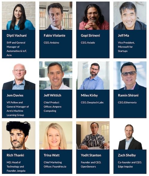Speakers at Arm's Startup Day.