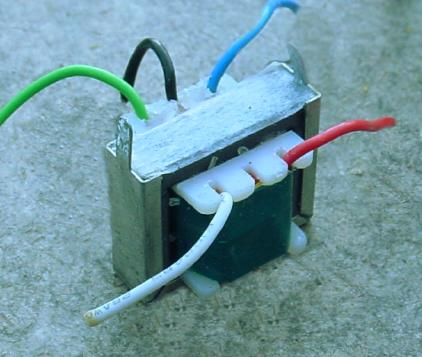 Audio frequency impedance matching transformer.