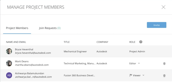 The member management pane is simple to navigate.