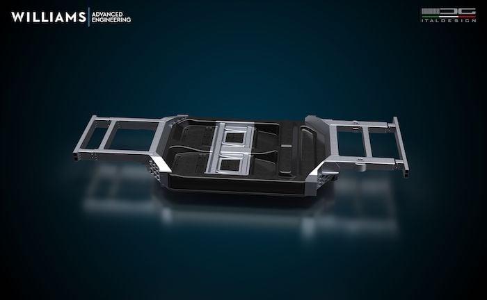 WAE and Italdesign's battery case design.