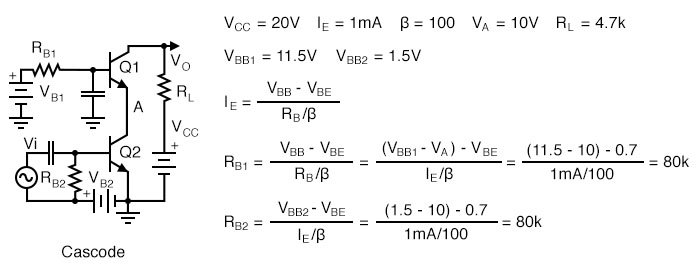 Bias for a cascode amplifier.
