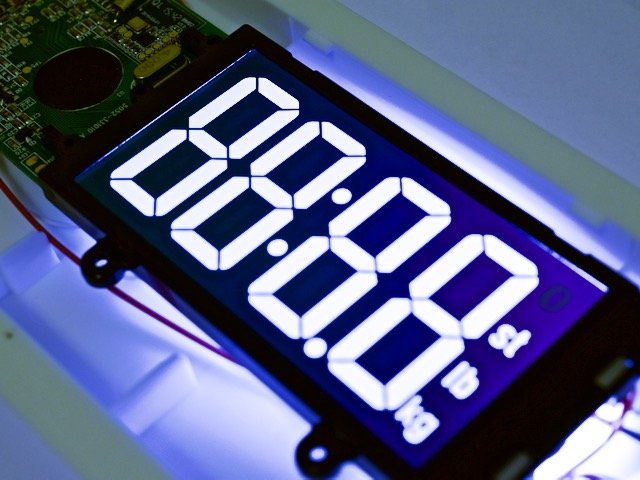 The LCD on the Bluetooth Scale
